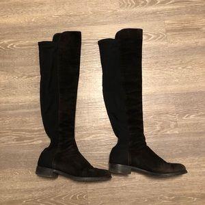 Stuart Weitzman 5050 Black Suede Boots